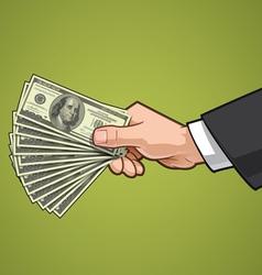 Hands Showing Money 3 vector image
