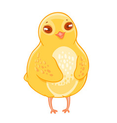 Humble funny cartoon chicken smiling vector