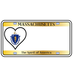 Massachusetts license plate vector