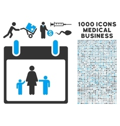 Mother calendar day icon with 1000 medical vector