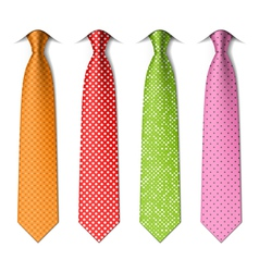 Polka and pin dots silk ties vector image