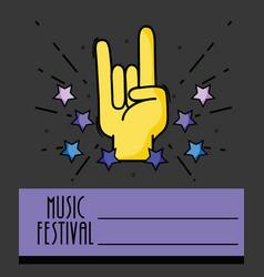rock music festival event concert vector image
