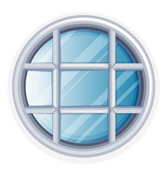 round window with white frame vector image vector image