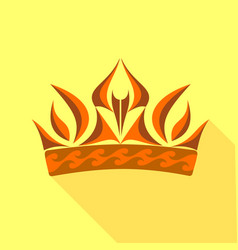 Royal symbol of power icon flat style vector