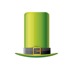 Saint patricks day poster with green hat vector
