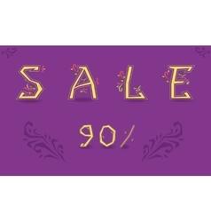 Sale ninety percents floral decor vector