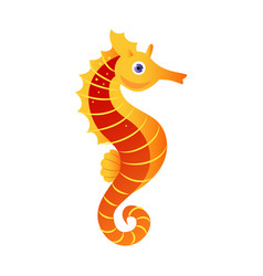 Seahorse or hippocampus sea creature colorful vector