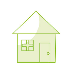 Silhouette nice house with architecture design vector