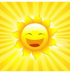 sun and rays vector image vector image