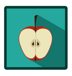 Symbol apple split in half icon vector
