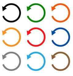 Undo icon on white background undo symbol flat vector