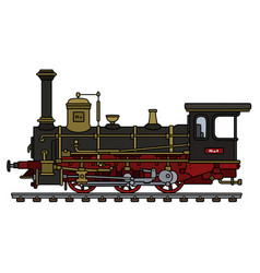 vintage black steam locomotive vector image vector image