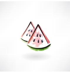watermelon grunge icon vector image vector image