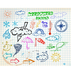 weather sketch vector image vector image