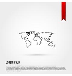 World map icon vector