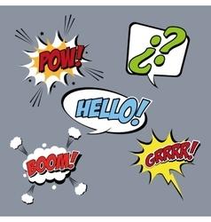 Bubble pop art icon set design vector