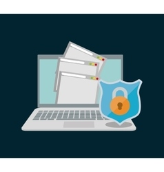 internet security document file page web padlock vector image