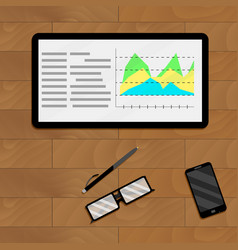 Infographic and infochart economic vector