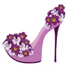 Shoes from flowers vector