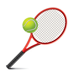 object tennis racket and ball vector image