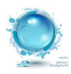 Abstract background with water drops vector image