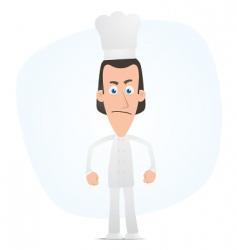 angry chef vector image