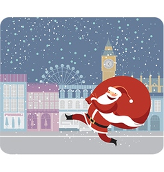 Santa Claus in London vector image