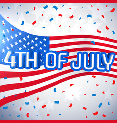 4th of july celebration background vector image vector image