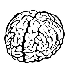 Black human brain sign vector
