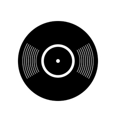 Retro vinyl record icon vector