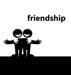 symbol of friendship vector image