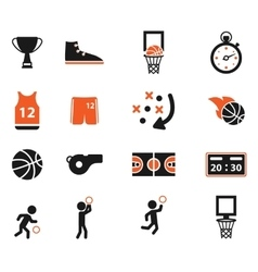 Basketball simply icons vector