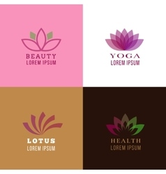 Lotus design template for spa yoga health care vector