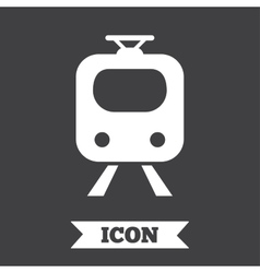 Subway sign icon train underground symbol vector