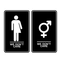 All gender restroom sign vector