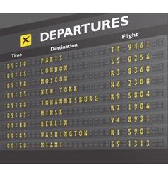 Airport board print vector image vector image