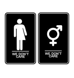 All gender restroom sign vector