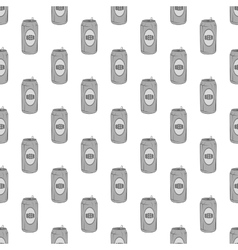 Aluminum beer seamless pattern vector