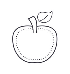 apple line icon sign on vector image