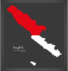 Bengkulu indonesia map with indonesian national vector