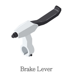 Brake lever icon isometric 3d style vector