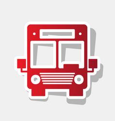 bus sign new year reddish vector image