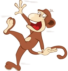 Cheerful monkey Cartoon vector image