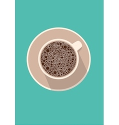 Coffee cup icon in flat vector image vector image