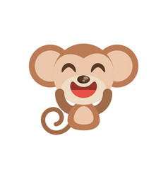 cute monkey animal character funny vector image