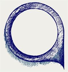 Dialogue bubble vector image vector image
