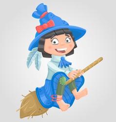 Girl witch halloween vector