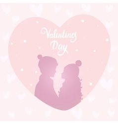 happy couple silhouette vector image vector image