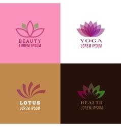 Lotus design template for spa yoga health care vector