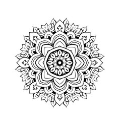 mandala floral decorative element vector image